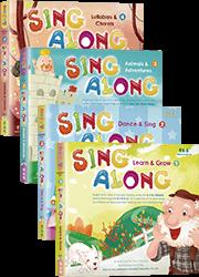Sing Along 寶貝跟我唱-英語童謠套書(4書+4CD)