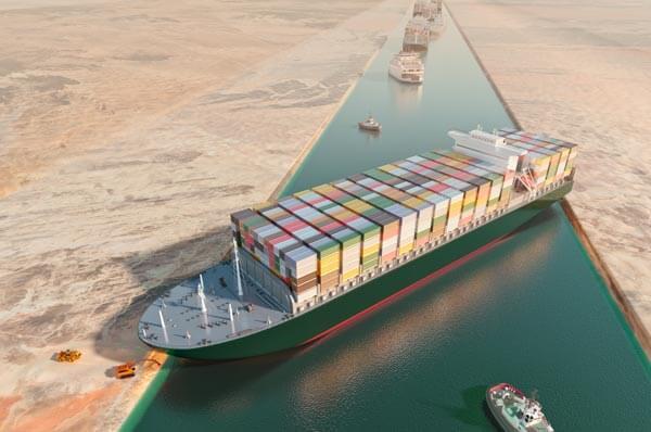 蘇伊士運河大排 長「榮」!全球 貨運受衝擊 Suez Canal Blockage Impacts Global Shipping